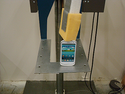 Our drop tester allows companies to see how their product will survive shipping and handling.